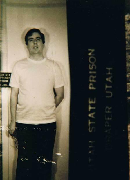 Hofmann's Utah State Prison mug shot, taken 29 January 1987. He was 33 years old.