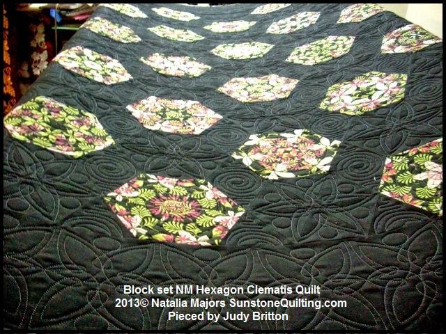 Block set NM Hexagon Clematis Quilt – Quilted