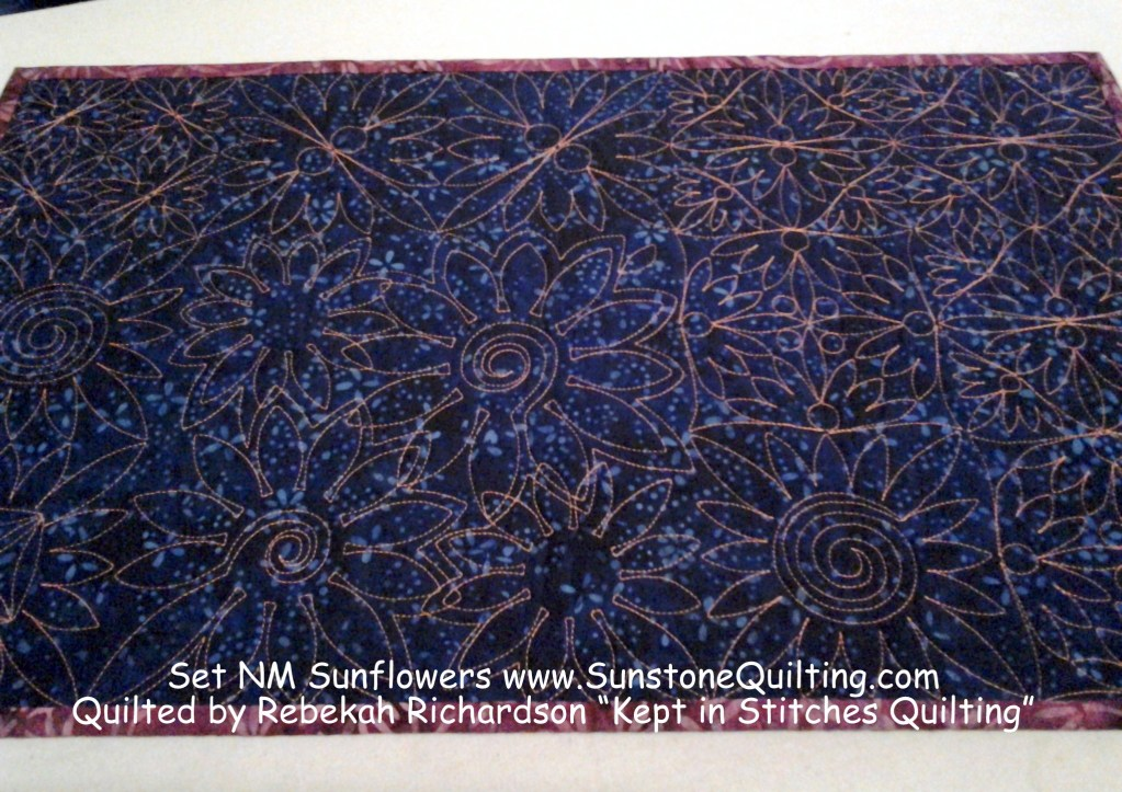 August 2014 Specials quilted!