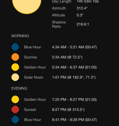 screenshot ephemeris sun [ 750 x 1334 Pixel ]