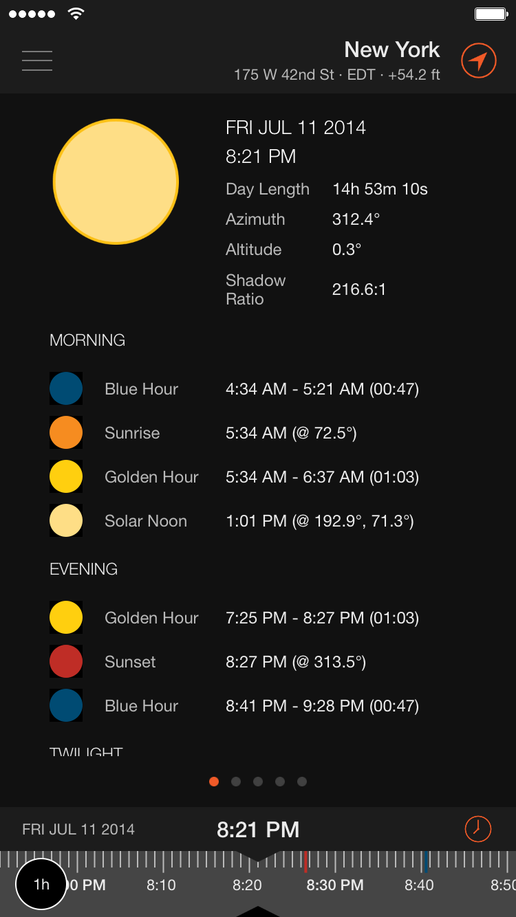 hight resolution of screenshot ephemeris sun
