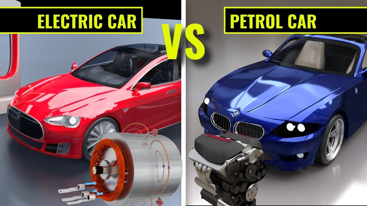 Electric Vs Gasoline Working Of Electric Cars Mobil Listrik