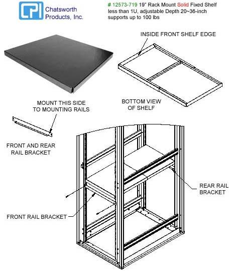 rackmount shelf cpi chatsworth 12573 xxx