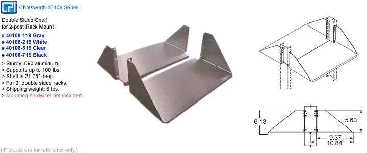 rackmount shelf cpi chatsworth 40108 xxx
