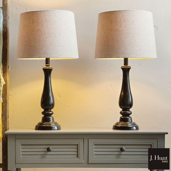 Hunt Home Metal Touch Table Lamps 2 Pack