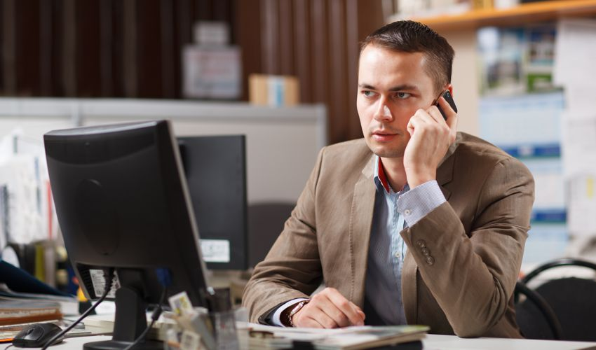 Man in Office - Business Performance - Business Strategy