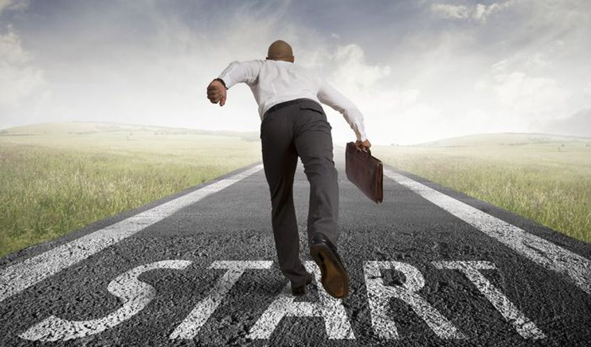 Start Your Engine of Growth - Man on Starting Line