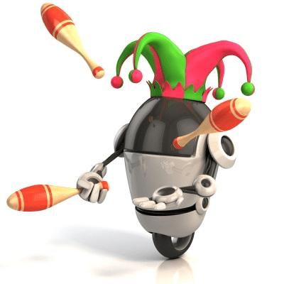 Robot juggling future business strategy
