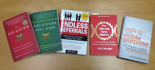 Sales books go-giver selling with noble purpose ultimate sales machine