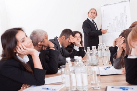 Disengaged Employees Bored Team Presentation