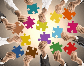 Business Systems Teamwork Puzzle