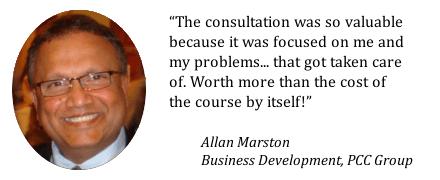 Testimonial from Allan Marston