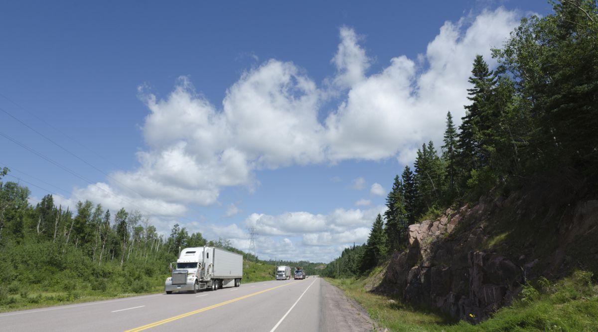 Quiet Success, Trucks on Highway