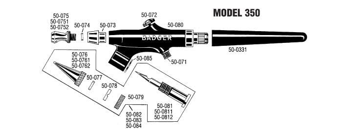 Badger Single Action Airbrush Set 350-9