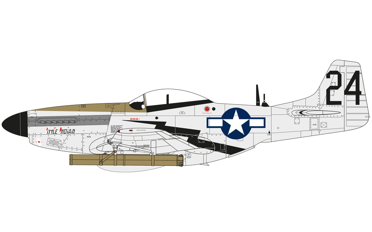 Airfix North American P51-D Mustang 1:48 A05131 • Online