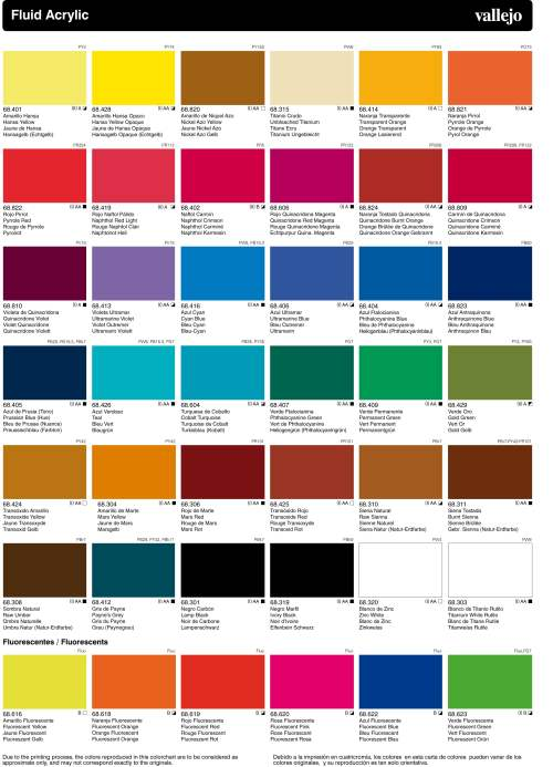 small resolution of vallejo acrylic artist fluid colours chart