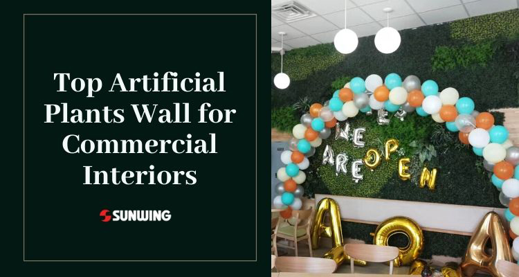 top artificial plants wall for commercial interior design