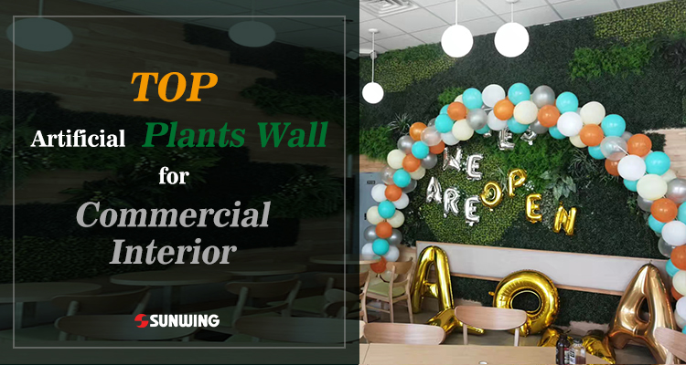 commercial artificial hgreen walls for interiors