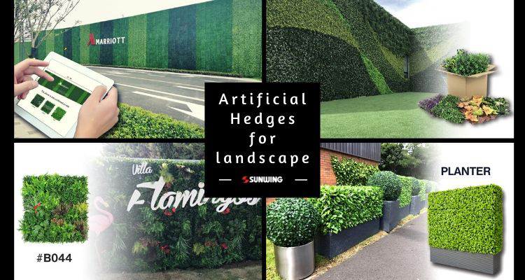 artificial hedges for landscape