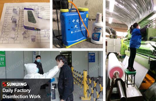 artificial plants factory disinfection