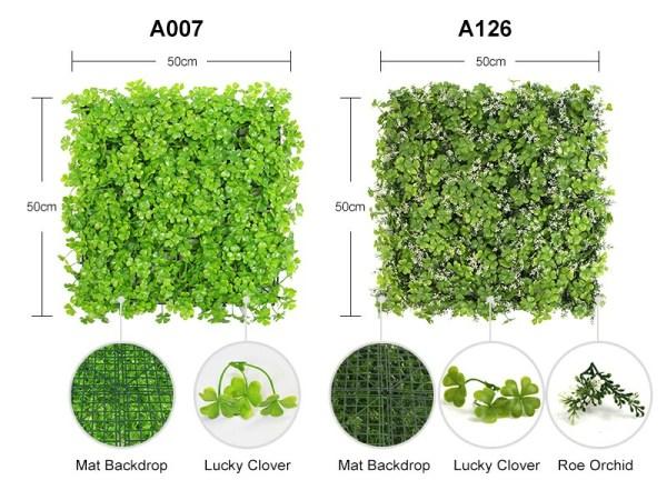 A007&A126 artificial hedges mats