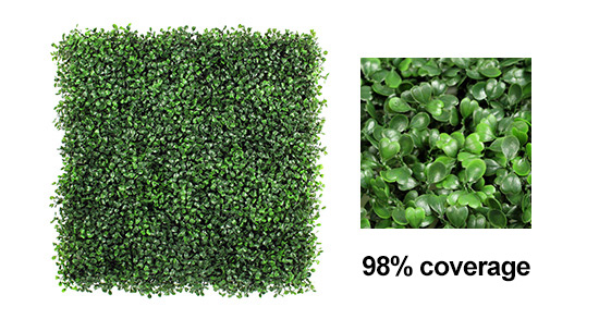 coverage rate of fake boxwood hedges