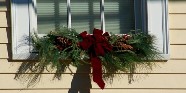 Holiday Decor with Artificial Swags