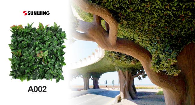 Ceiling design of a tree bridge