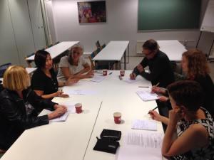 Vangittujen kirjailijoiden komiteoiden toimintaan keskittyvässä ryhmäkeskustelussa keskusteltiin PENin turvaresidenssitoiminnasta eri Pohjoismaissa.