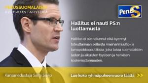 Sami Savio: PS:n eduskuntaryhmän ryhmäpuheenvuoro vuoden 2019 valtion talousarviosta