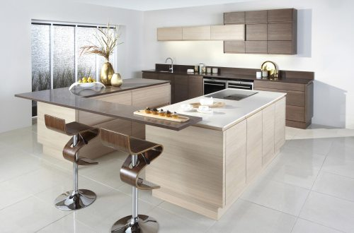 Modern oak stylish fitted kitchen