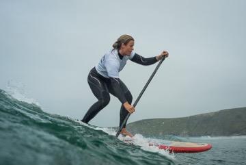 Tina Beresford in action at Carbis Bay
