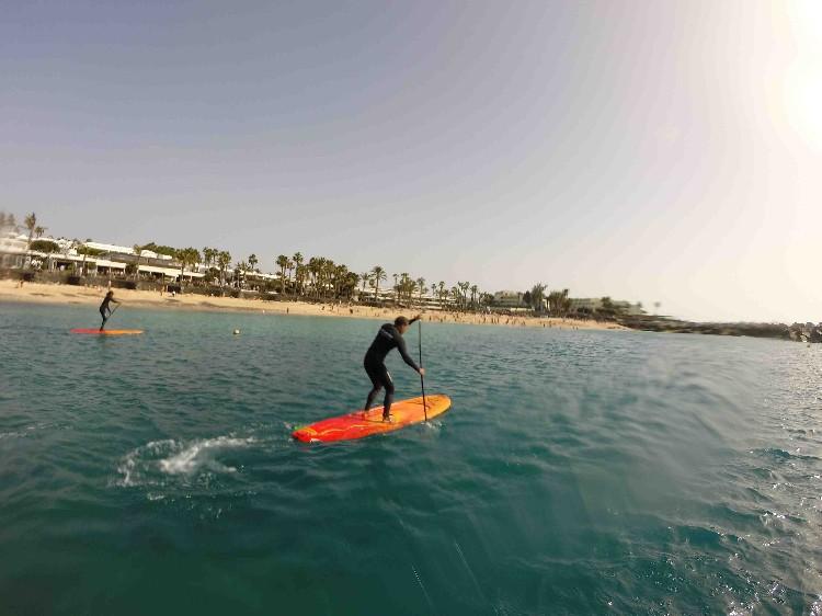 paddle boarder in spain