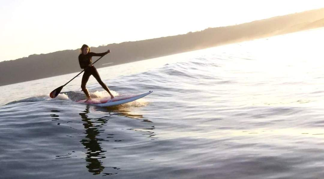 small wave SUPing