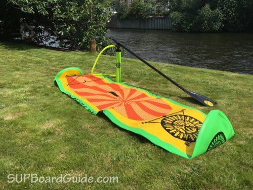 Deflated board with gear