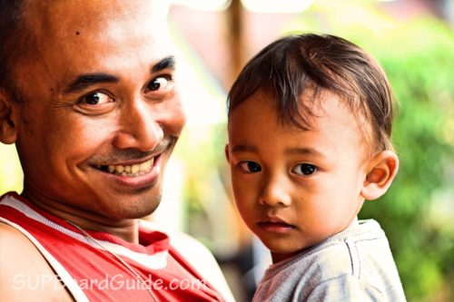 Balinese Father and Son