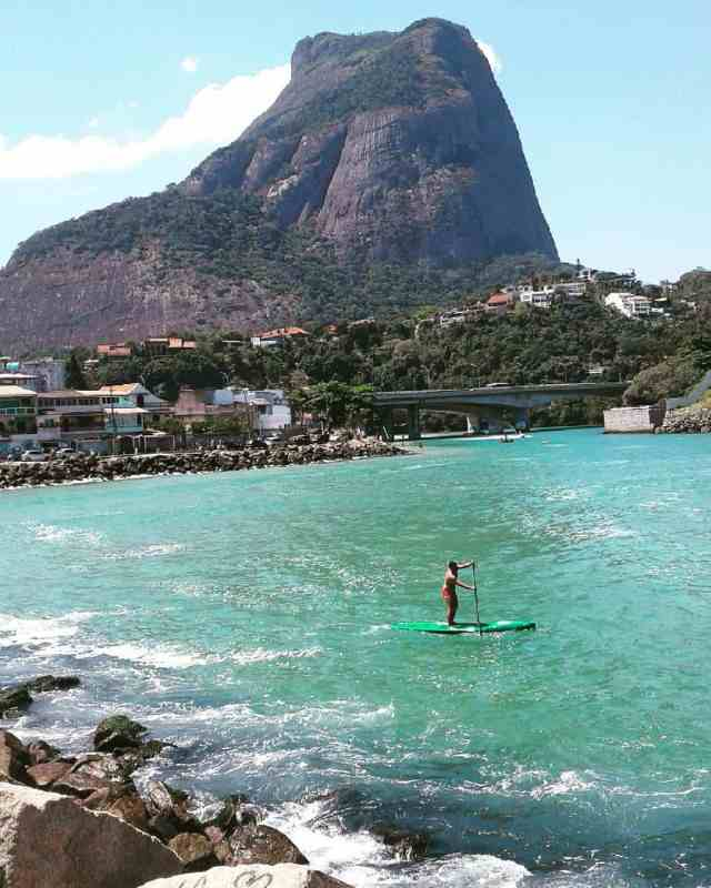 Aside from the festive Carnival in Rio de Janeiro, the beach surrounding the area is also a great place to SUP.