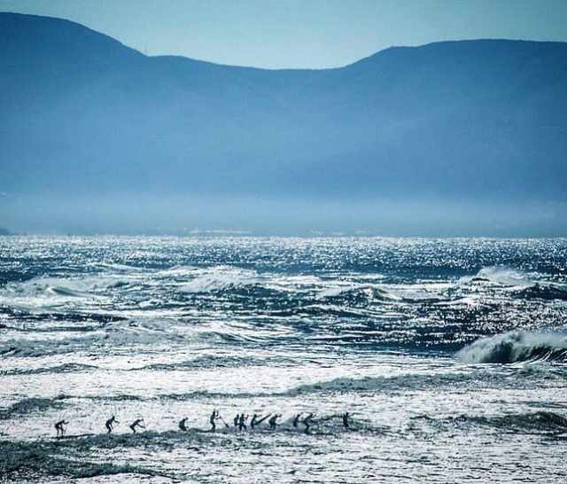 The annual Red BullHeavy Water Race proved to be a challenge even for theworld's best SUP athletes. Theweather forecastthatdaymentionedhugeswells down San Fransisco. Apparently, it was evident on race day, just look at the photo.