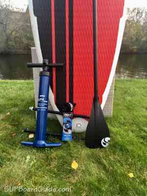 Pump, leash and paddle included with Nixy