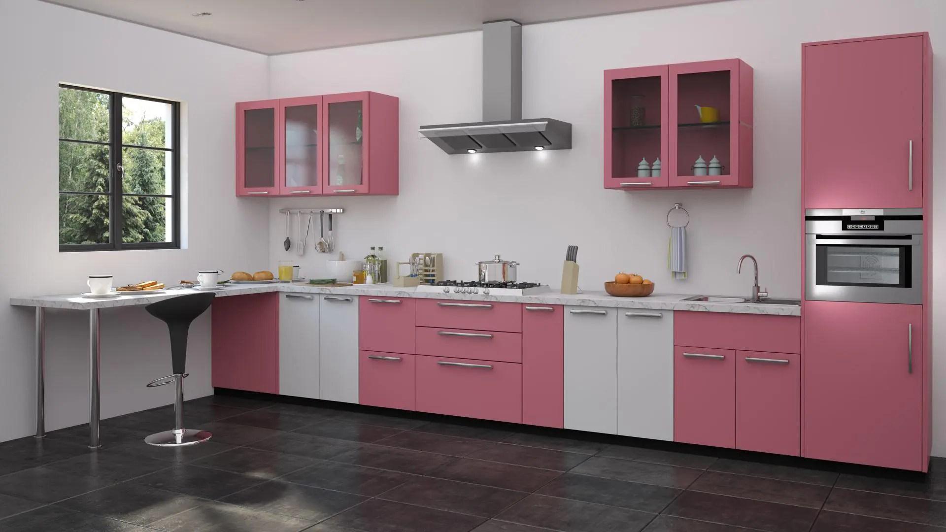 10 magnifiques cuisines roses qui feront craquer les