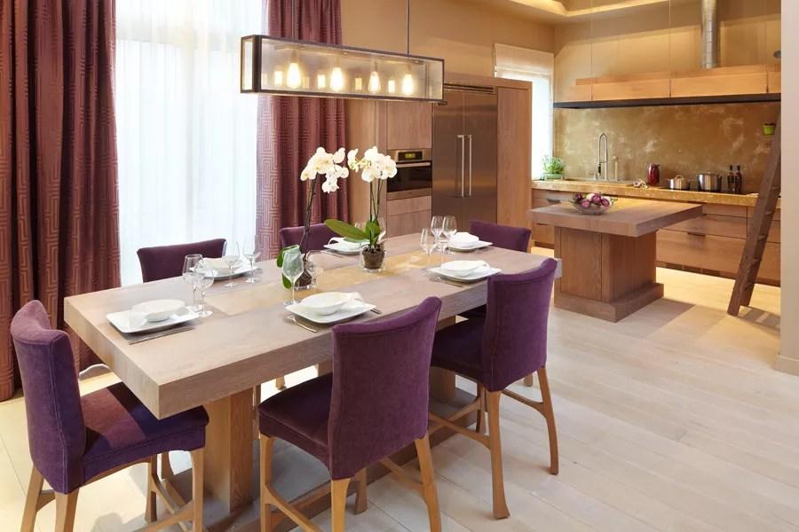 Chaise avec coussins prune pour salle  manger  Super Dco
