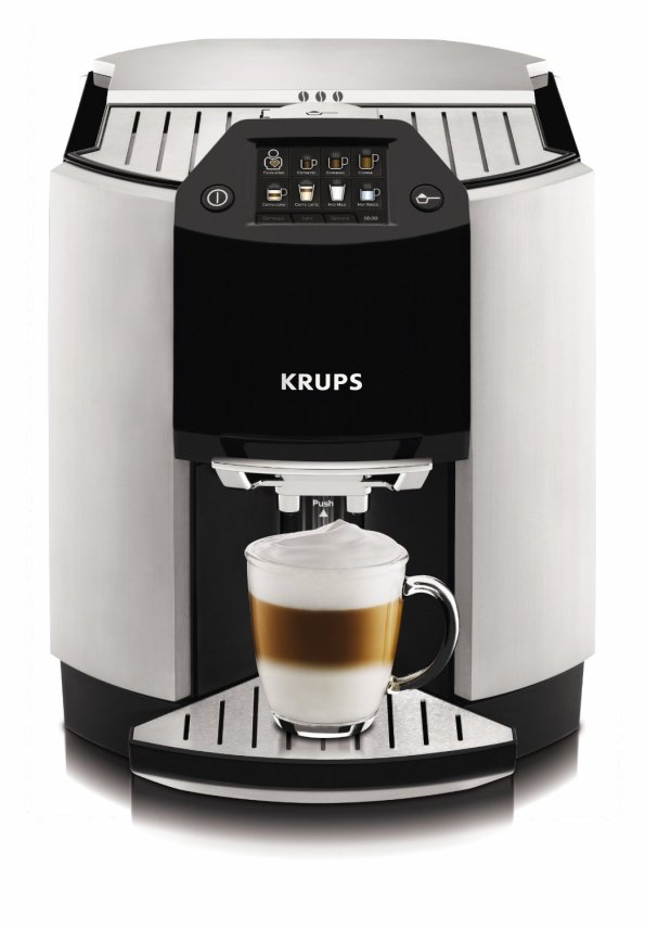 KRUPS EA9000 Barista Full Automatic One Touch Cappuccino Machine with Automatic Rinsing and KRUPS Two-Step Frothing Technology