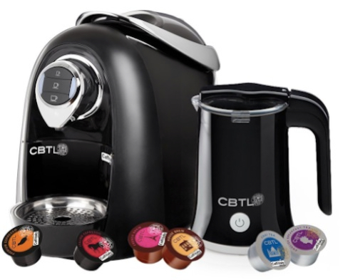 CBTL Kaldi Single-Cup Brewer with Espresso, Coffee, Tea and Milk Frother Bundle