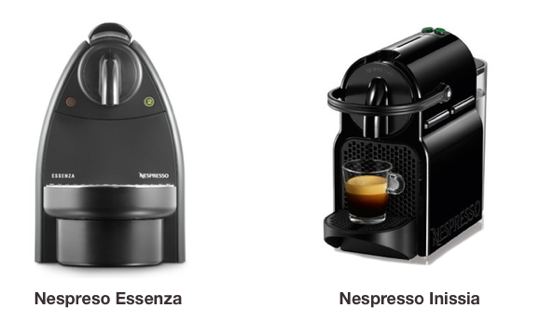 Nespresso Essenza vs Inissia