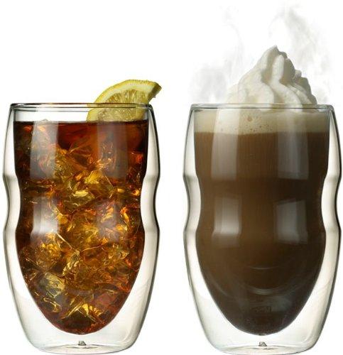 Ozeri Serafino Double Wall Insulated Beverage and Coffee Glasses