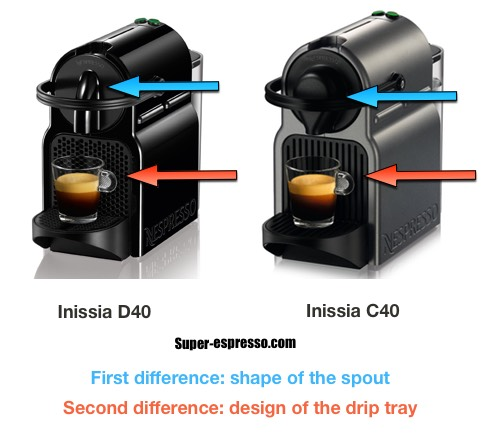 Nespresso Inissia C40 vs D40