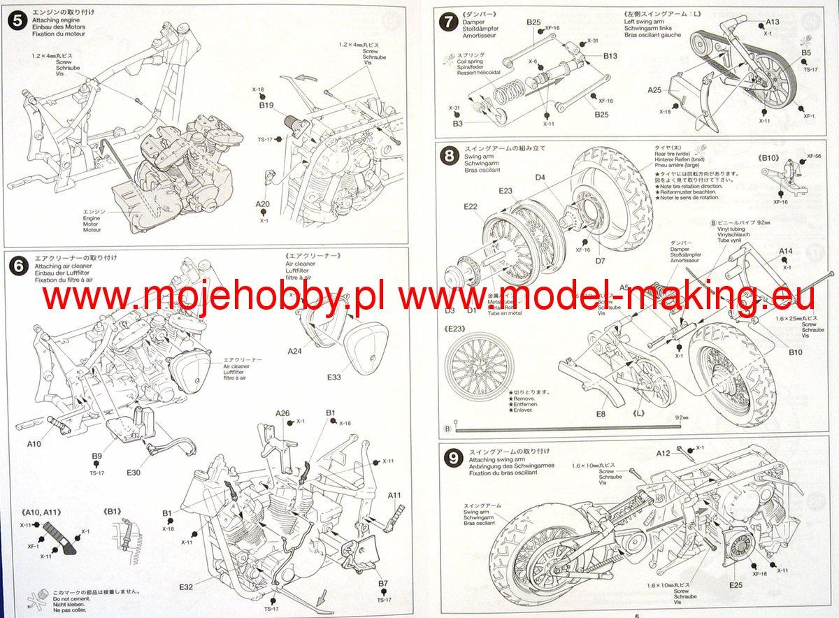 Yamaha XV1600 Roadstar Tamiya 14080