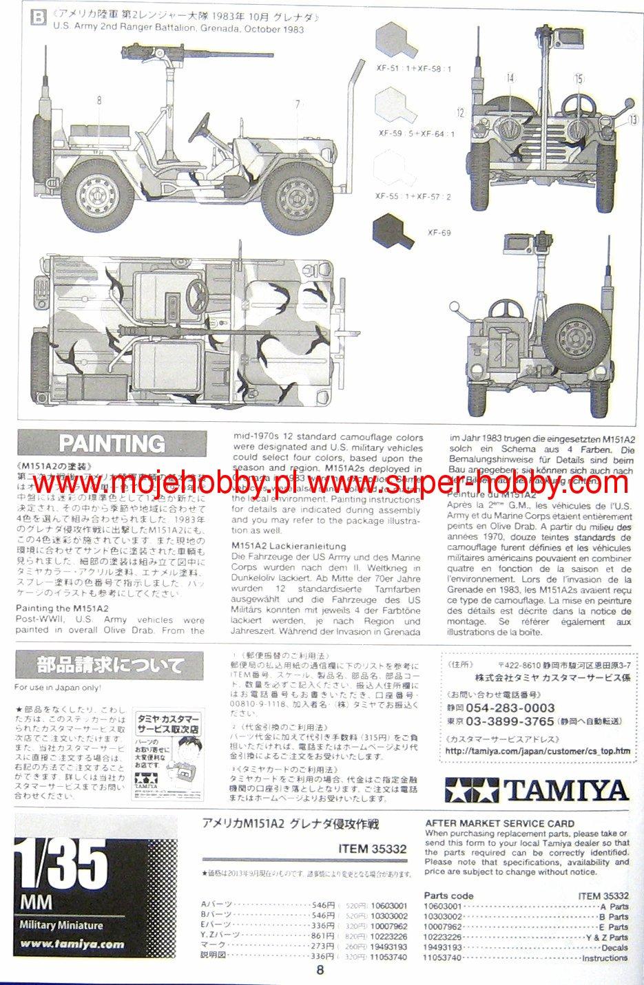 American Utility Truck M151A2 (Grenada 1983) Tamiya 35332