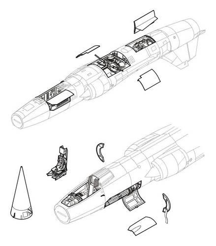F-104 zestaw detali HAS CMK 4099