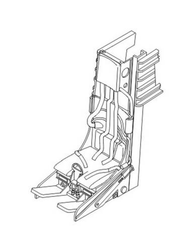 Lockheed C-2 Ejection seat for F-104 C/D/G/J a DJ 1/32 CMK